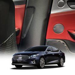 스코코 기아 K7 프리미어 카본 안전벨트 커버