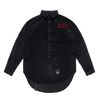 HANDWRITING OVERSIZED CORDUROY SHIRTS BLACK