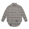 GL OVERSIZED CHECK SHIRTS PINK GRAY