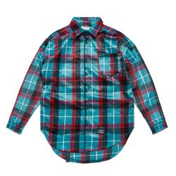 TIGER OVERSIZED CHECK SHIRTS BLUE