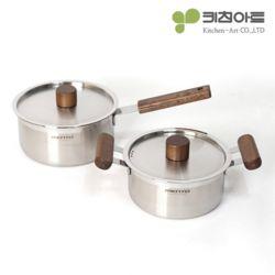 키친아트 멘토 스텐냄비 2종세트