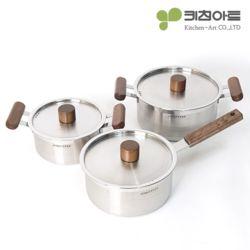 키친아트 멘토 스텐냄비 3종세트