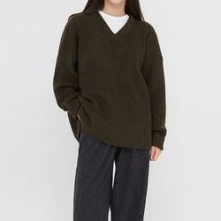 siso wool v-neck knit