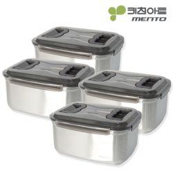 키친아트 멘토 김치통 5호(9.5L) 4종세트