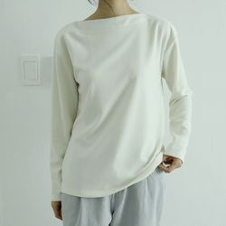 cozy boat neck tee (4colors)
