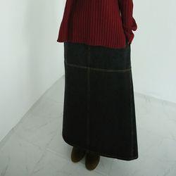 layered point denim skirts