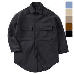 제이스 롱 투포켓 울 셔츠 자켓 CTJ021