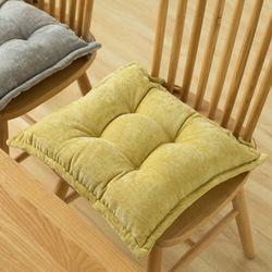 포근한 사무실 식탁 의자 끈 있는 겨울 방석 2color