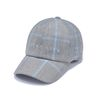 GL CHECK BASEBALL CAP BLUE GREY