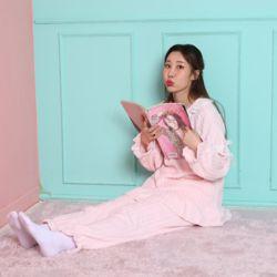 레이스 극세사 봉봉 핑크 잠옷 수면 파자마 홈웨어 세
