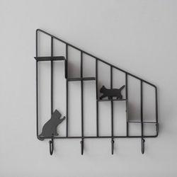 고양이 미니 선반(블랙)