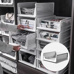 고급폴딩 옷장정리 수납정리함 낮은형