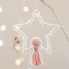 포근한 크리스마스 드림캐쳐(별-핑크)-소