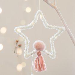 포근한 크리스마스 드림캐쳐(별-핑크)-대
