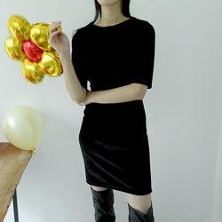 velvet soft mini dress (2colors)
