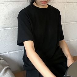 bold cotton tee (black)