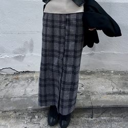 blended plaid skirts (2colors)