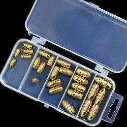 캐치피싱 루어낚시 황동 총알 싱커 25개 세트