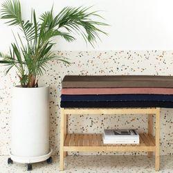 소피아벨벳 엣지 벤치방석 라지(150x40x5cm)4color