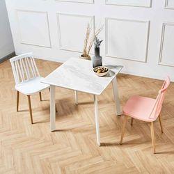 제네로이 2인용 세라믹 식탁 카르보 8608 윈저 의자 세트