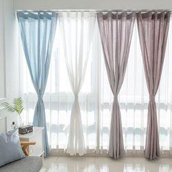 스칸디 린넨룩 커튼 - 420x230cm 핀형