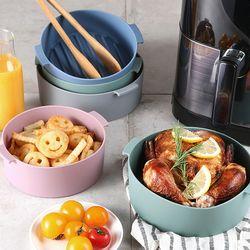 에어프라이어 전자렌지 전용 실리콘용기 그릇(19cm)