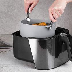 에어프라이어 전자렌지 전용 실리콘용기 그릇(22cm)