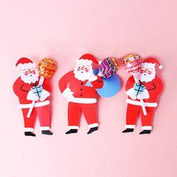 핀란드 산타 막대사탕 데코페이퍼 9개 (3set)