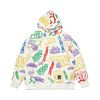 PAINTING OVERSIZED HEAVY SWEAT HOODIE WHITE MULTI