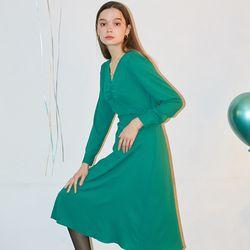 Classic Midi Dress Green