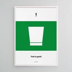 소주6 필소굿 M 유니크 인테리어 디자인 포스터 식당 A3(중형)