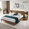 프리미엄 고무나무원목 침대프레임(KQ) KBD-401