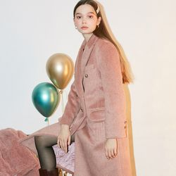 Basic Wool Coat Pink