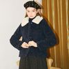 Teddy Bear Short Coat Navy