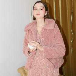 Teddy Bear Short Coat Pink