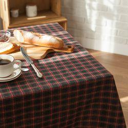 스코랜드 식탁보 테이블보 [차콜] 6인용 135x210cm