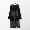 Wool Hood Houndtooth Warm Knit Coat