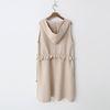 Wool Hood Warm Knit Long Vest