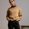 Rosy Rib Turtle Sweater Camel
