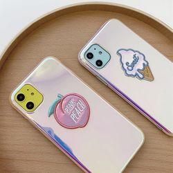 아이폰11 pro max  복숭아 아이스크림 패치 케이스