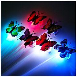 [인증필요] LED 광섬유 브릿지 헤어핀/머리핀 나비형