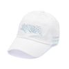 DOTTED LINE WASHED BASEBALL CAP WHITE