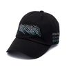 DOTTED LINE WASHED BASEBALL CAP BLACK