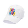 MULTIPLE COLOR WASHED BASEBALL CAP WHITE