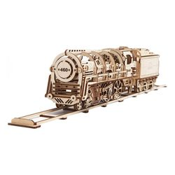 443피스 목재 입체퍼즐 - 유기어스 증기기관차