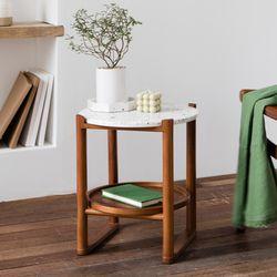 피카 테라조 테이블(원형 화이트)