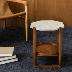 피카 테라조 테이블(팔각 화이트)