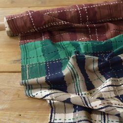 [Fabric] 믹스 드 클래식체크 린넨 Mix de classic Check Linen