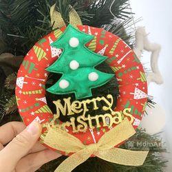 크리스마스 리스 만들기 - 레드리본 트리 (1개)