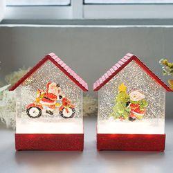 크리스마스 레드하우스 LED 워터볼 오르골 (3type)